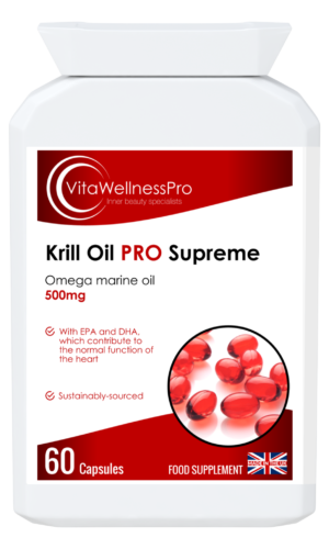 Krill Oil Capsules - Omega Oil Supplements, Dairy-Free & Gluten-Free Supplements