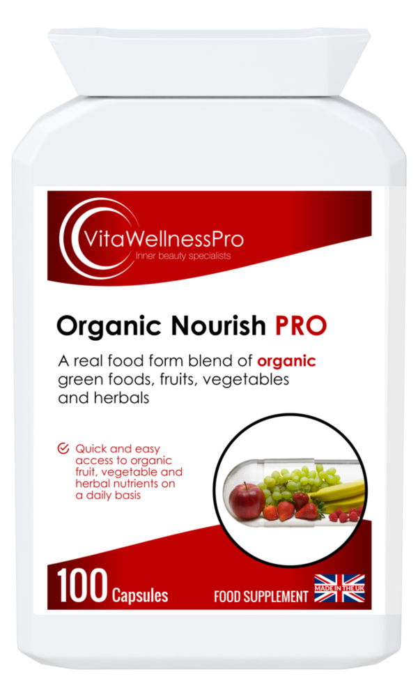 Organic Nourish Food Supplement from Organic Green Foods, Fruits, Vegetables and Herbals