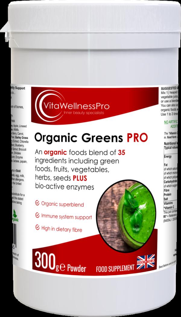 Organic Green Shake - High Fibre Food Supplement Blend of 35 Green Foods