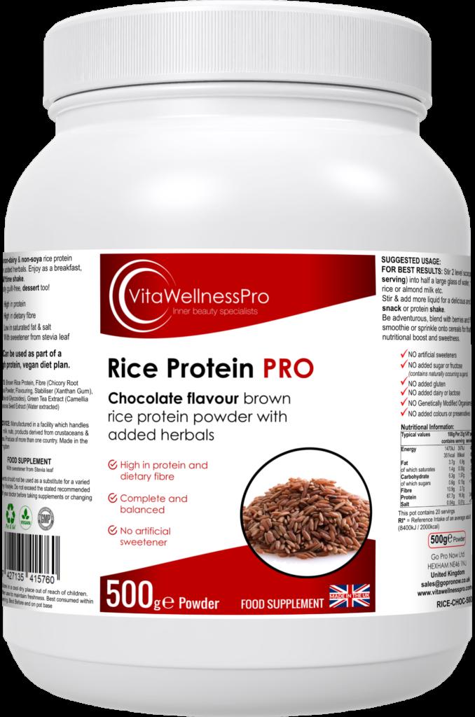 Rice Protein Powder Blend (Chocolate Flavour) - Rice Protein PRO