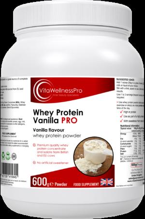 Vanilla Flavoured Whey Protein Supplement - Protein Rich Snack