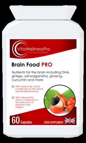 Brain Food - Brain Health Supplement for Mental Performance Plus Energy & Immunity Support